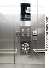 three close elevator in the hall