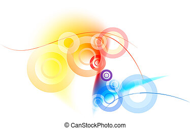 three color background