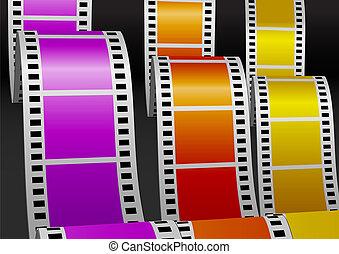 Three color bending films
