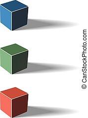 Three color cubes