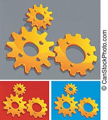Three-color gears