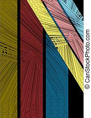 Three color wallpaper