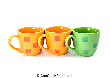 coffee cups on a white background