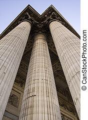 Three Columns - Symbolic columns. Shot was taken in Paris,...