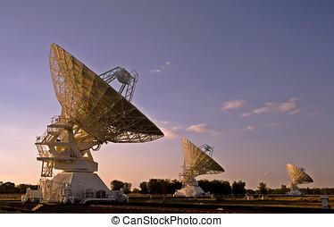 Three Compact Array Telescopes - three radio telescopes...