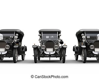 Three cool looking restored vintage cars