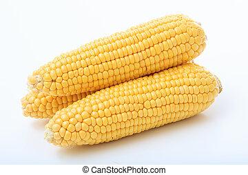 corns on a white background