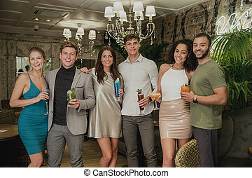 Three Couples In A Bar