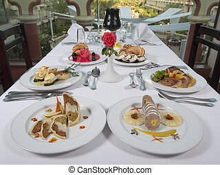 Three course meals in an a la carte restaurant - Two...