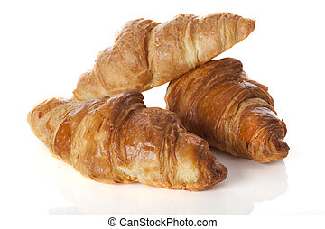 Three croissants - An arrangement of three delicious and...