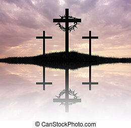Three cross - illustration of Three cross