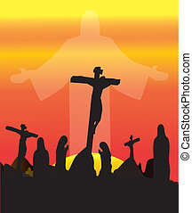 Three Crosses Crucifixion  - Crucifixion Jesus Christ