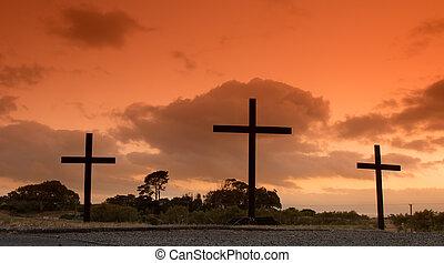 Three Crosses Hill Dawn