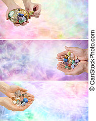 Three Crystal Healing Web Banners