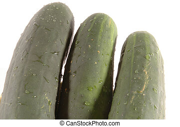 three cucumbers angle