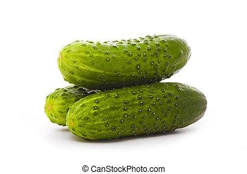 three cucumbers