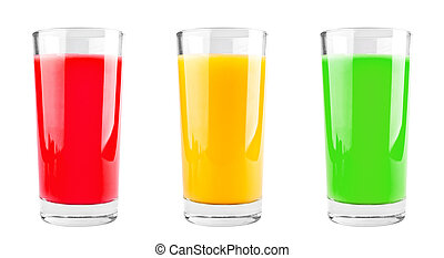 Three cups of juice
