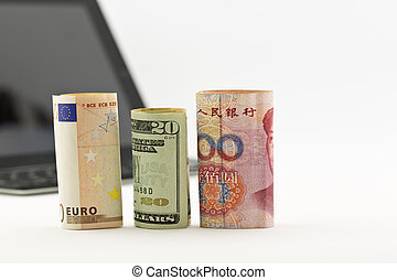 Three currencies intent on technology business