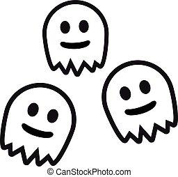 Three cute ghosts