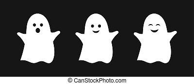 Three cute ghosts.