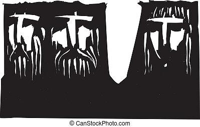 Three Dark Heads