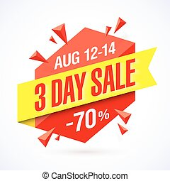 Three Day Sale banner