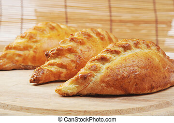 fresh pies - Three delicious fresh pies with meat