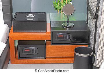 Three Deposit Boxes