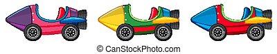 Three design of rocket cars