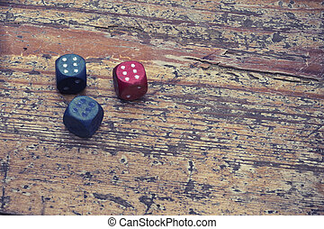 three dices