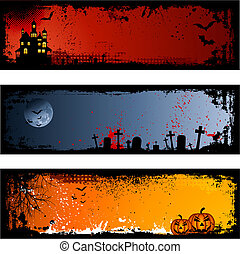Halloween backgrounds - Three different spooky Halloween ...