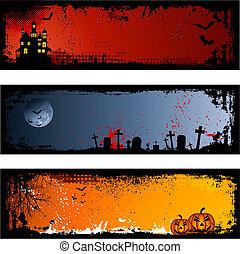 Halloween backgrounds - Three different spooky Halloween...
