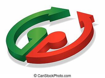 Three-dimensional Arrow Signs