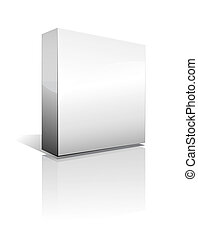 Three Dimensional Box with Shadow - 3D Box with reflection, ...