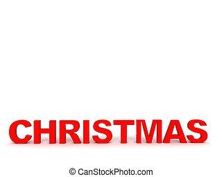 three dimensional christmas text