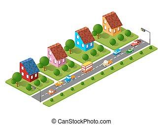 Three dimensional city buildings
