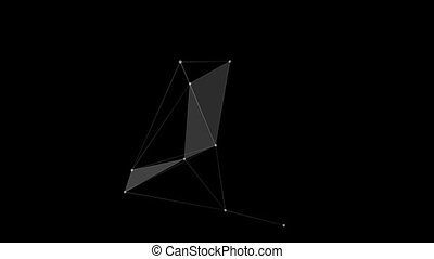 Three-dimensional connection points on a black background HD