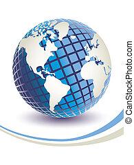 Three dimensional digital globe. - Three dimensional digital...