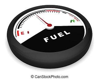 fuel meter in flat position - three dimensional fuel meter ...