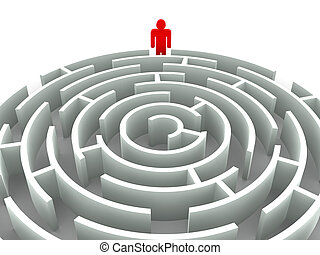 Three-dimensional graphic image. Labyrinth. 3d