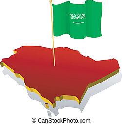 image map of Saudi Arabia