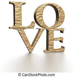 Three-dimensional inscription LOVE - Glossy...