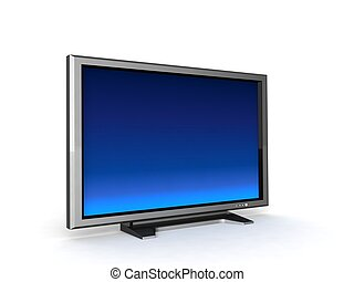lcd television - three dimensional isolated lcd television
