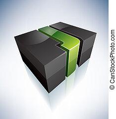 Three-dimensional J Letter