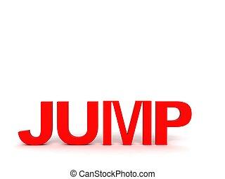 three dimensional jump text