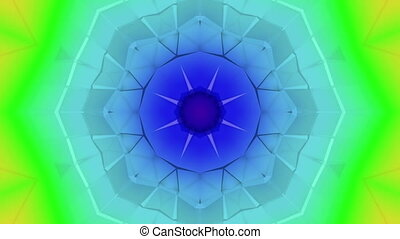 Three-dimensional kaleidoscope background. abstract...