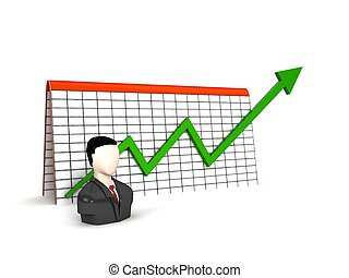 man with profit graph