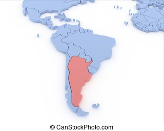 Stock Illustration Of Map Of Argentina D Shape Shape D Of - Argentina map shape