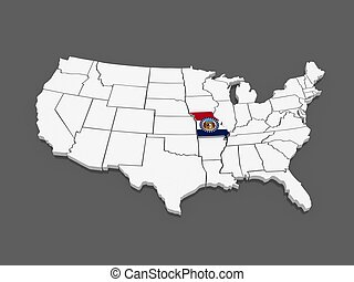 Missouri Illustrations And Clip Art Missouri Royalty Free - Missouri map usa