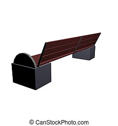 Three-dimensional model of a park bench